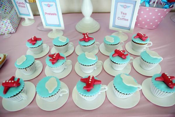 Girly Airplane Airline themed birthday party via Kara's Party Ideas karaspartyideas.com #airline #airplane #plane #party #idea #cake #girly #girl supplies decorations (2)