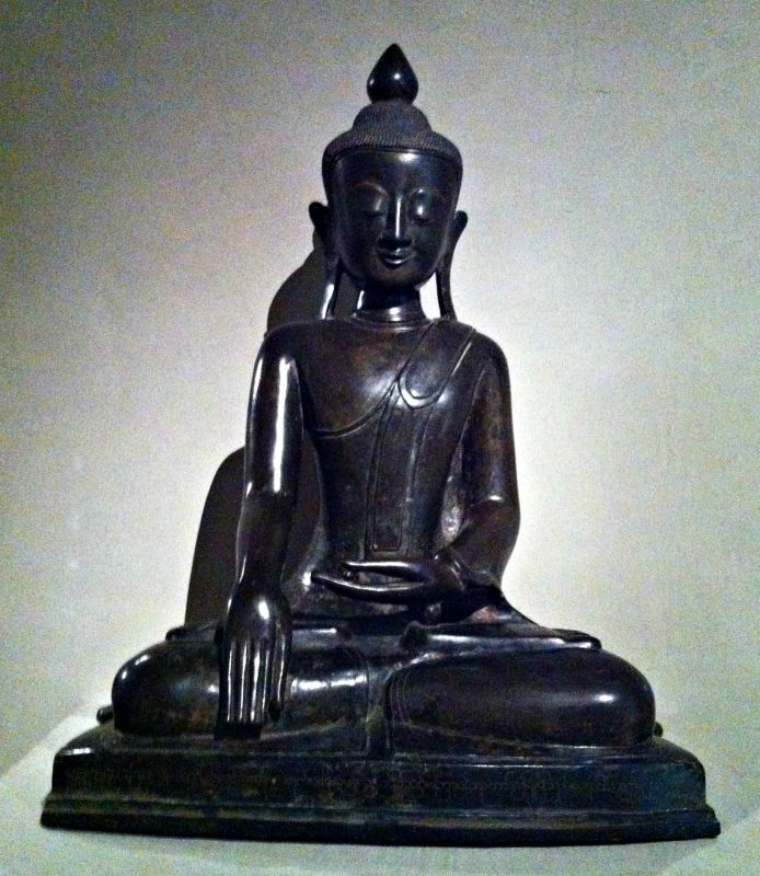 _/\_  Buddha Skakyamuni  _/\_  [escultura em bronze procedente de Mianmar - 1807]