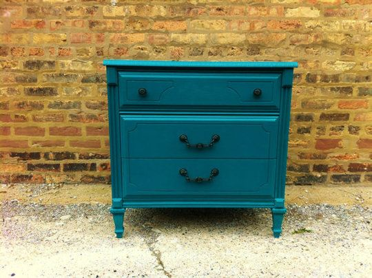 painted furniture. Trying to decide if I should paint some of my hand-me-down pieces a bright color.