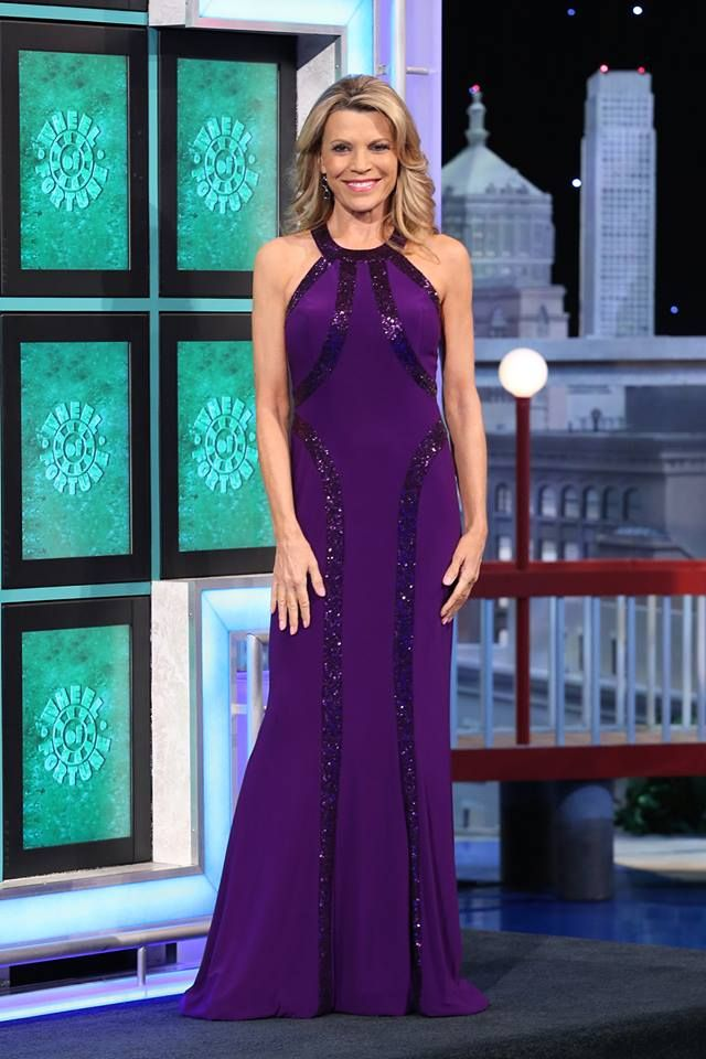 Vanna White wearing the Amber Sequin Dress by Faviana #dressme