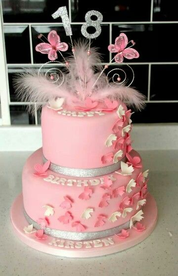 2 tier butterfly 18th birthday cake | Cake Ideas ...
