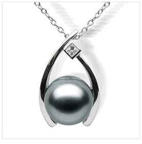 Wish a Black Tahitian South Sea Pearl Pendant    Retail Price: $1,925.00  Our Price: $550.00
