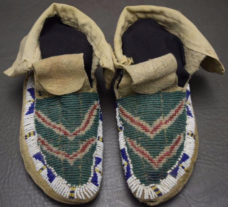 Детские мокасины, Сиу. Период 1900. Icollector. com. R. G. Munn Auction LLC/American Indian Art auction. 5 апреля 2017 года.