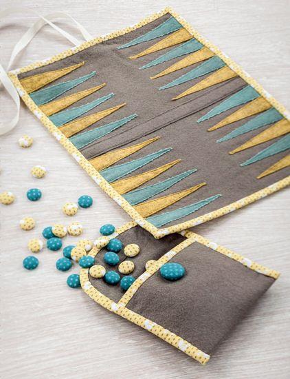 Travel Backgammon Set by Adrienne Smitke