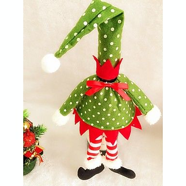 1db karácsonyi hullám pont elf borosüveg ruhák fedél asztaldísz házibuli kellékek 5137695 2016 – £2.09