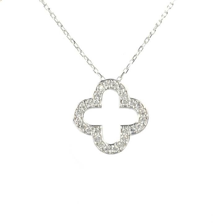 Latelita London - Open Clover Necklace Silver
