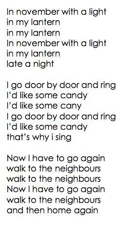 Engels Sint-Maartenlied op de melodie van '11 november'