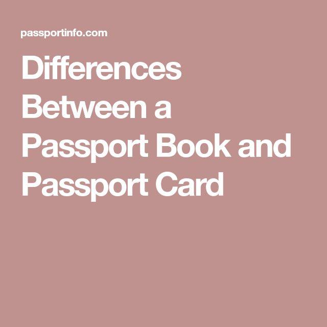 Differences Between a Passport Book and Passport Card
