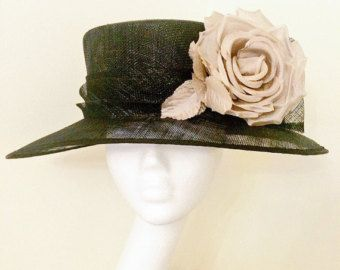 Classic Crown Brim Hat for Weddings, Ascot, Ladies Day, Glorious Goodwood, Races, Dubai Gold Cup, Kentucky Derby, Melbourne Gold Cup.