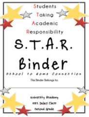 Rock STAR Binder Inserts from Swift In Second on TeachersNotebook.com (54 pages)