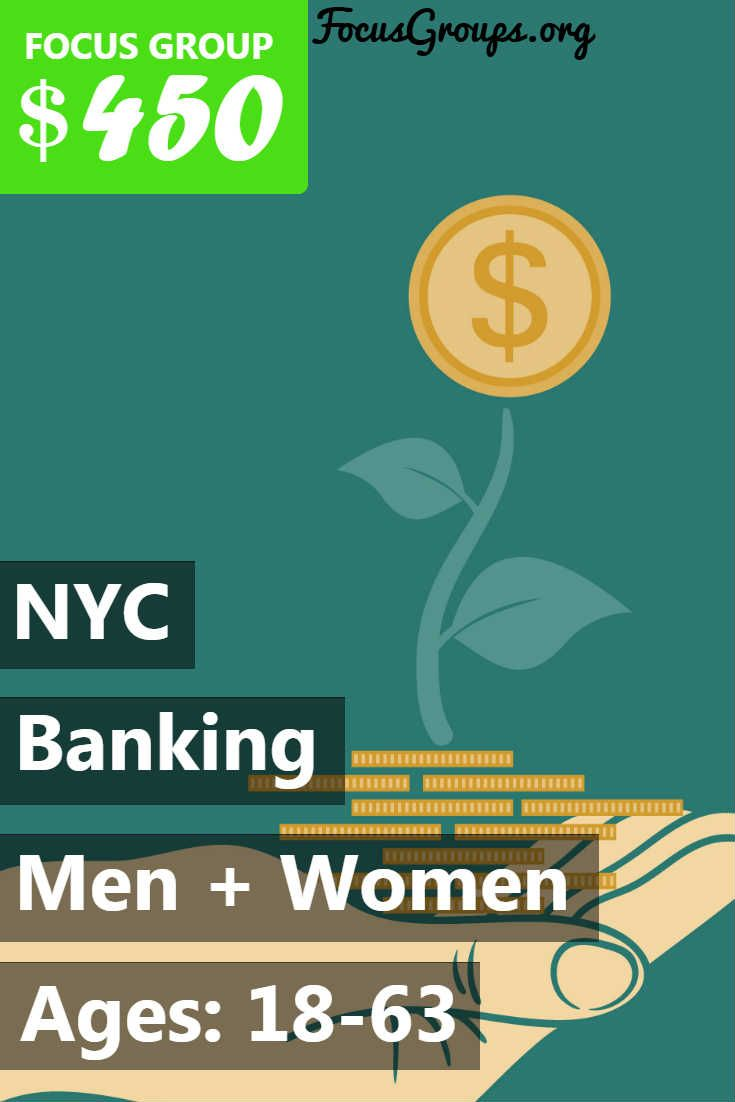 RRU is currently conducting a market research study on Banking. We are looking for males and females, age brackets 18-25 & 50-63 years old, who will be available to come to our Manhattan office on Wednesday, MARCH 7th for 2 1/2 hrs long group. There will be also Homework involved with this study. All qualified participants will receive $450 CASH for their time and opinions. PLEASE NOTE: You MUST have a CITIBANK account or CITIBANK credit card plus a competitor credit card with AMEX, Chase…