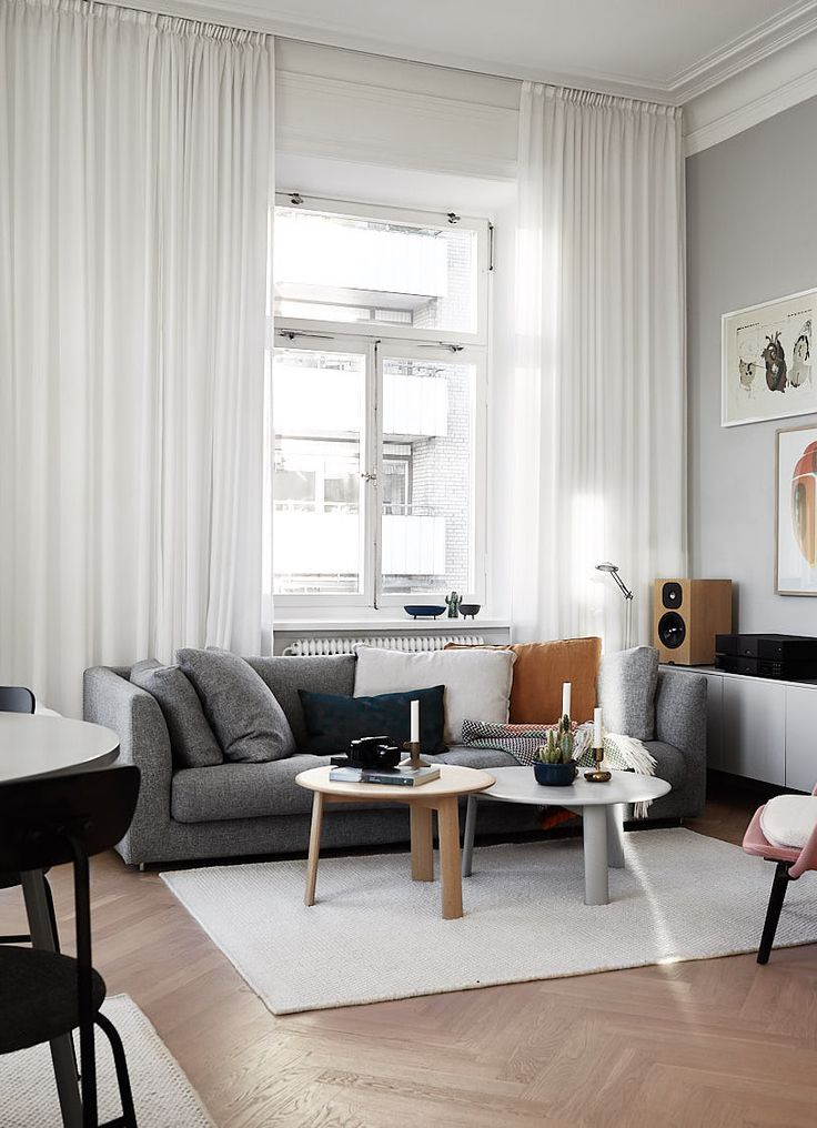 Grey home with a modest color palette - via Coco Lapine Design blog