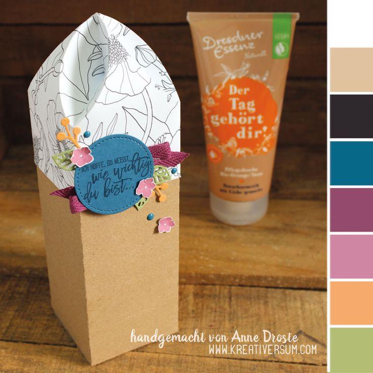 die besten 25 geschenke verpacken duschgel ideen auf pinterest faltbox kartonagen und wein. Black Bedroom Furniture Sets. Home Design Ideas