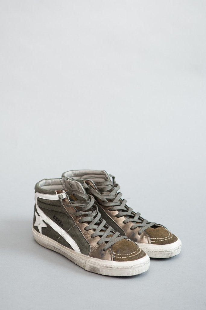 Golden Goose Slide Suede and Metallic Leather Sneakers Discount Exclusive zeIWm962i