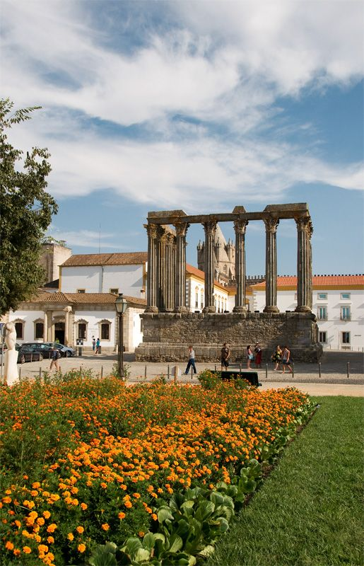 The city and the Roman temple... - Evora, Portugal