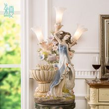 Grande estilo ocidental criativo casa umidificador fonte de água feng shui ornamentos acessórios para casa de sorte candeeiro de mesa de casamento(China (Mainland))