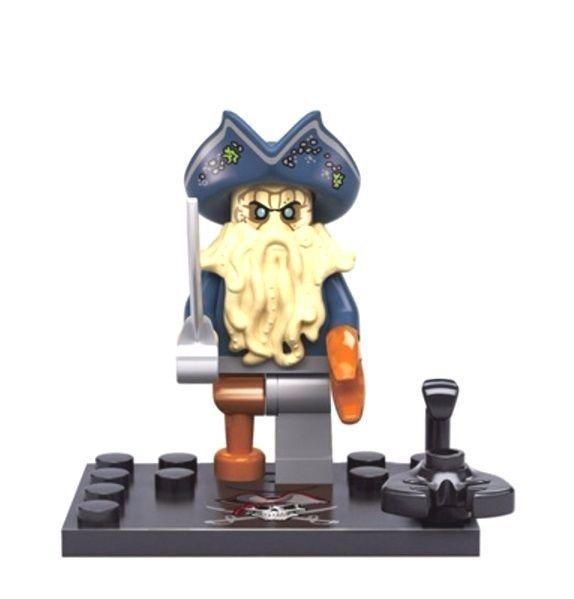 Collectible building block toy mini action figure doll model: Davy Jones #ROBO