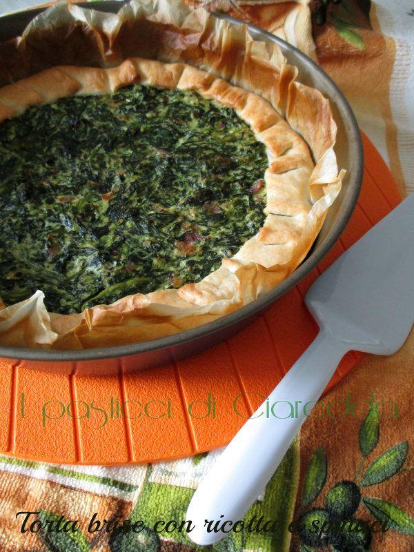 Torta brisèe con ricotta e spinaci