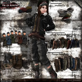 Second Life Marketplace - TonkTastic - Fallen Aviator [Ladies Version]