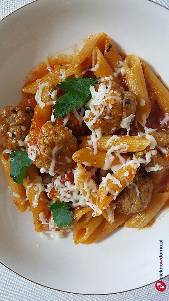 Włoskie Pulpeciki Z Makaronem W Sosie Pomidorowym Recipe