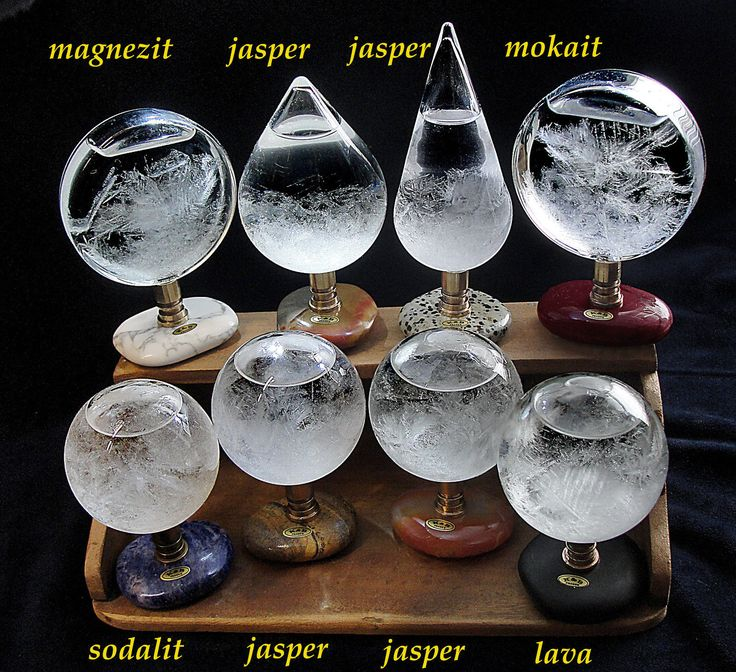 Stormglass from Prague. Stormglass is a sealed glass ampoule containing a very specialized, safe chemical solution which creates varied elegant crystalline arrangements, depending on changes in the environment.   eBay!
