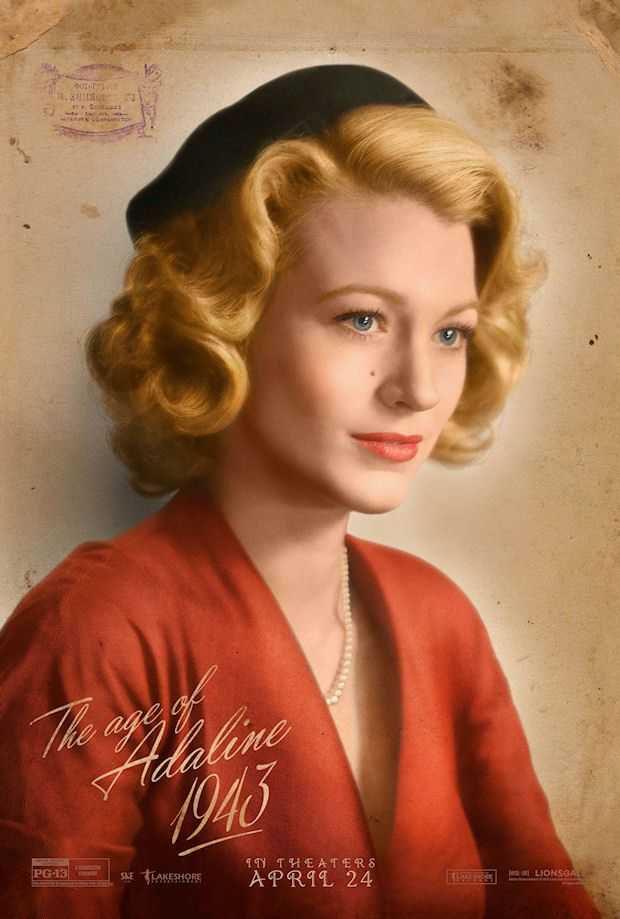 THE AGE OF ADELINE poster No. 4 w/ Blake Lively