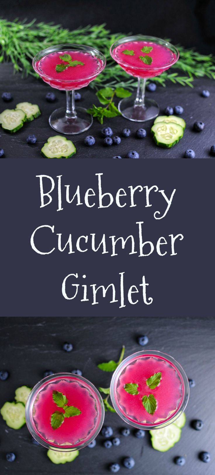 Blueberry Cucumber Gimlet - gin, blueberries, cucumber, lime  craft cocktails, recipe, gin cocktails, syrup, easy, summer, spring, lime juice