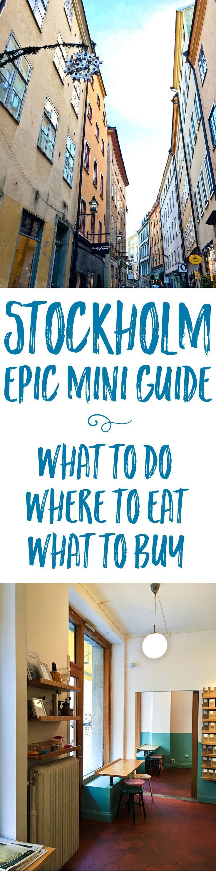 In this Stockholm mini-guide, you'll find a carefully curated shortlist of the best restaurants, food shops, bakeries, and museums in the city, plus gift ideas!
