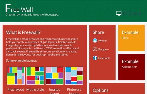Easily Create Dynamic Grid Layout With FreeWall