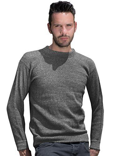 """Product review for Gamboa Warm and Soft Alpaca Sweater for Men - Smooth Basic Gray. Crew Neck.  This warm and soft sweater is made of 100% fine alpaca wool. This sweater is a basic, just ideal to wear it with any outfit. It is a very versatile garment.       Famous Words of Inspiration...""""Collect as precious pearls the words of the wise and..."""