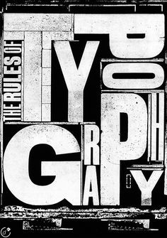 The Rules of Typography by Alan Kitching