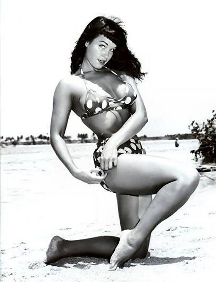 Go retro in your favorite animal print or polka dot bikini and a black bob for classic pin up Betty Page style. http://AFitBeachBody.com