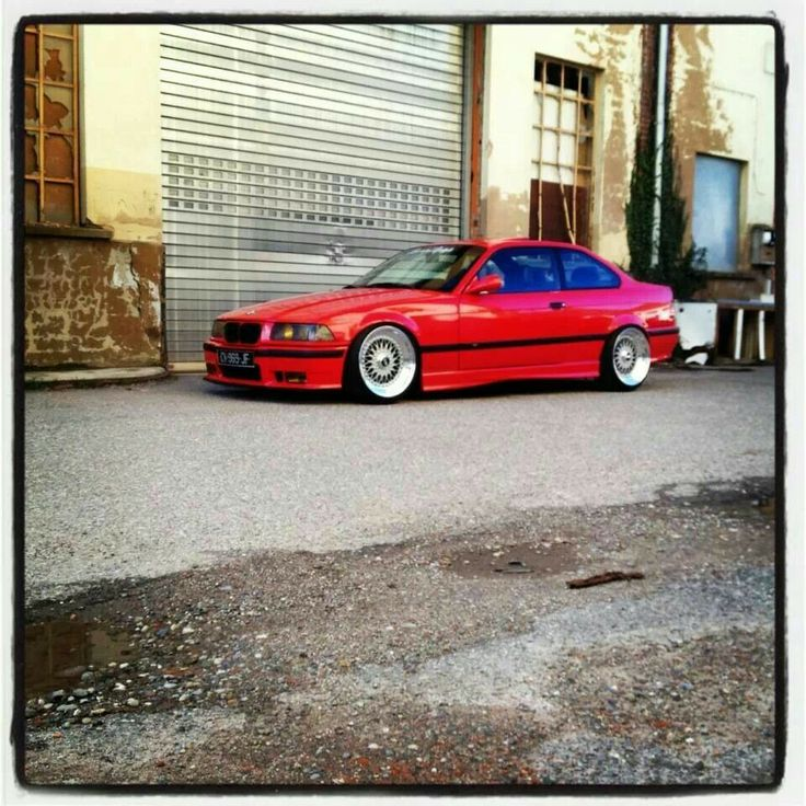 BMW E36 M3 red on BBS wheels | BMW - Ultimate Driving ...