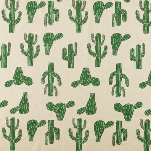 Bomull ubleket m store kaktuser