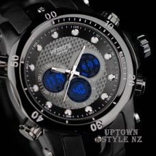 Infantry Black Light Dual Time Cyclists' Watch