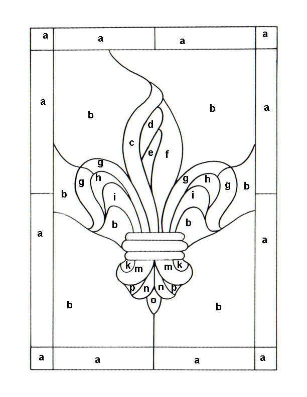 simple stained glass patterns printable   Free Emblem Patterns and Logo Patterns For Stained Glass