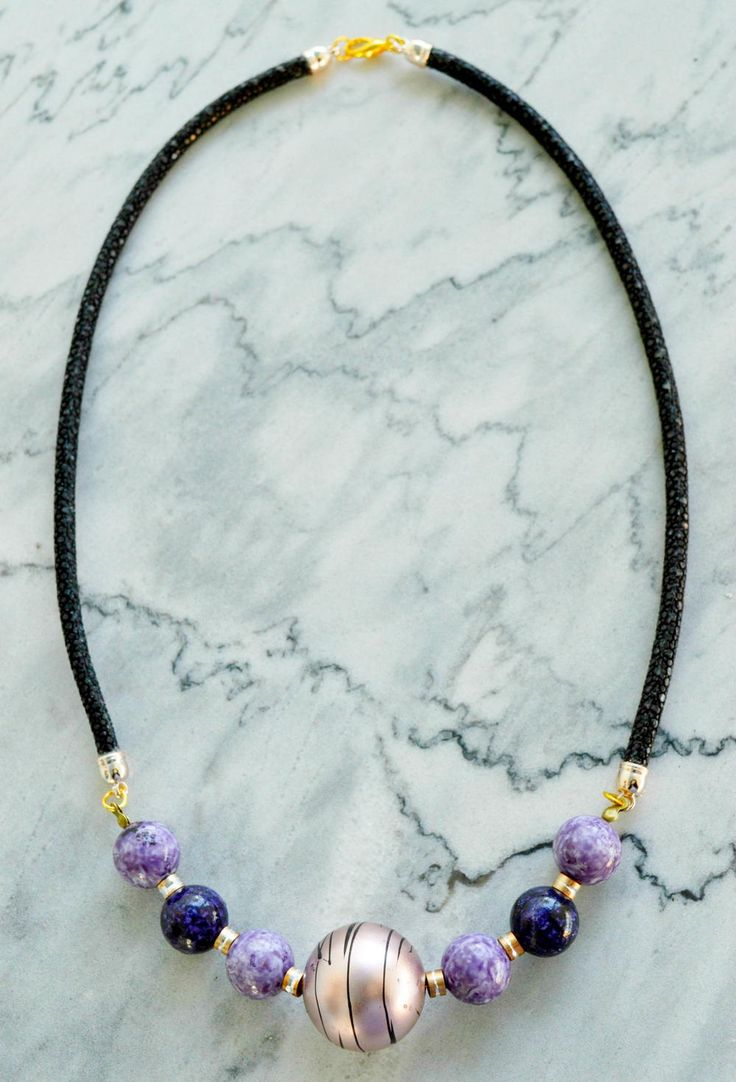 Classy Leather Beaded Necklace | This leather necklace will have you looking FABULOUS every time you wear it!