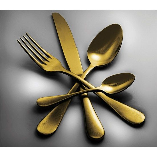 Michelangelo Vintage by Mepra, 24-piece cutlery set. Studio Tecnico Mepra re-interpreted the Neo-Baroque style to create a collection of elegant and refined, yet modern and balanced shapes. The peweter bronzed finish adds a stylish distressed and elegant look to each piece that will surely enhance your table.  The set includes: 6 table forks, 6 table spoons, 6 table knives and 6 coffee/tea spoons. Made in Italy. #Michelangelo #Italy #design #shopping #cook #kitchen #poundr #luxury #tabletop