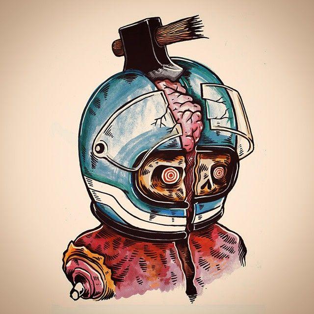 Illustration by Menze Kwint #illustration #design #motorcycles #motos   caferacerpasion.com