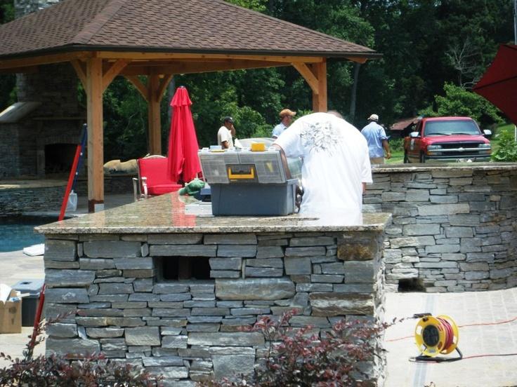 Santa Cecilia Granite Installed Outdoor Kitchen Kannapolis 3 4 8 Visit Our  Web Site