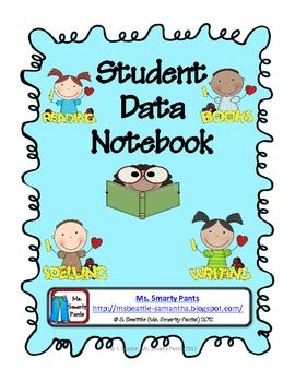 Student Data Notebook with Common Core Checklists