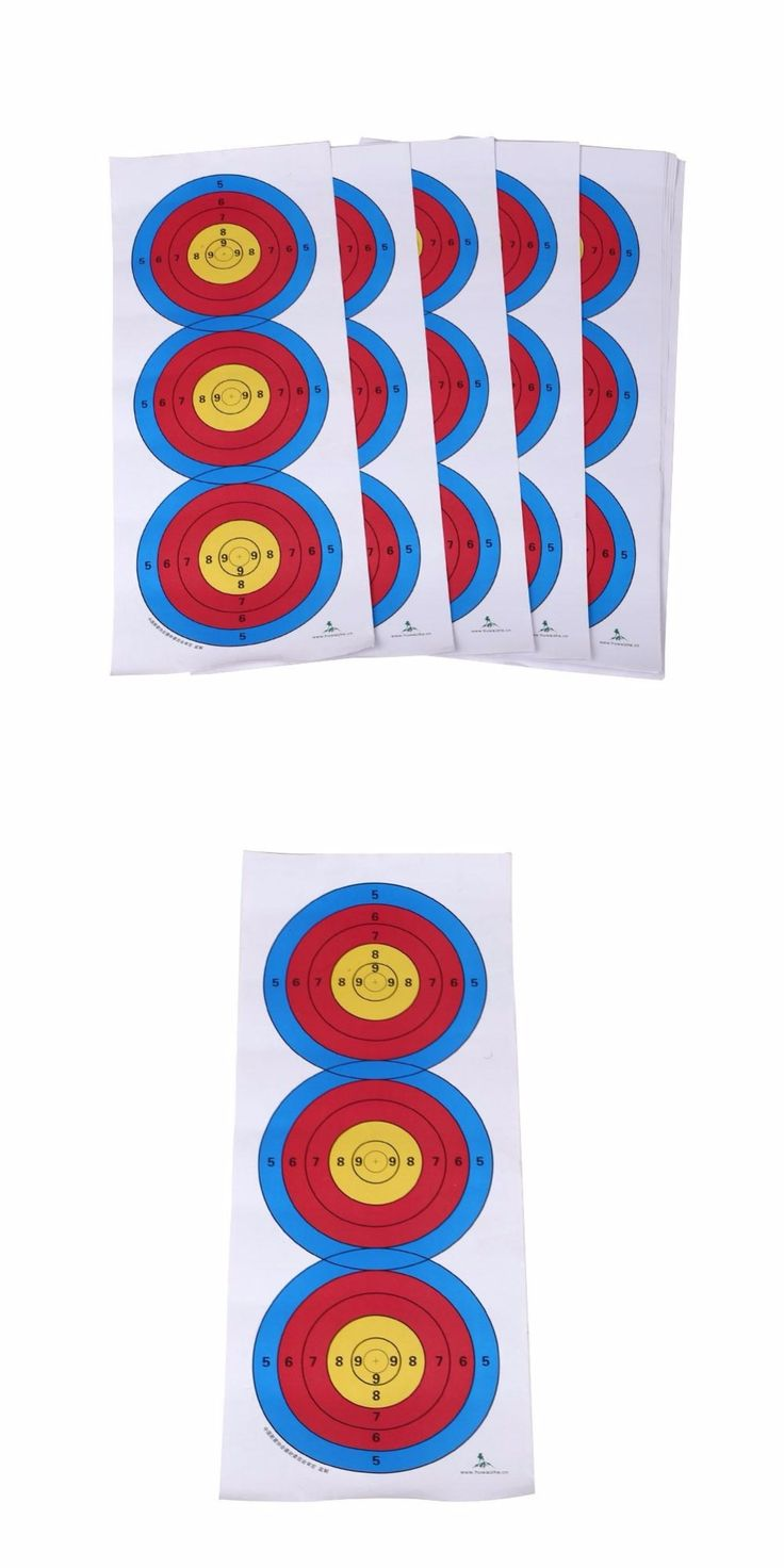 Standard Three Target Paper Shooting Target Full Ring Archery Hunting  Accessories Bow Arrow Spots Arrow Target