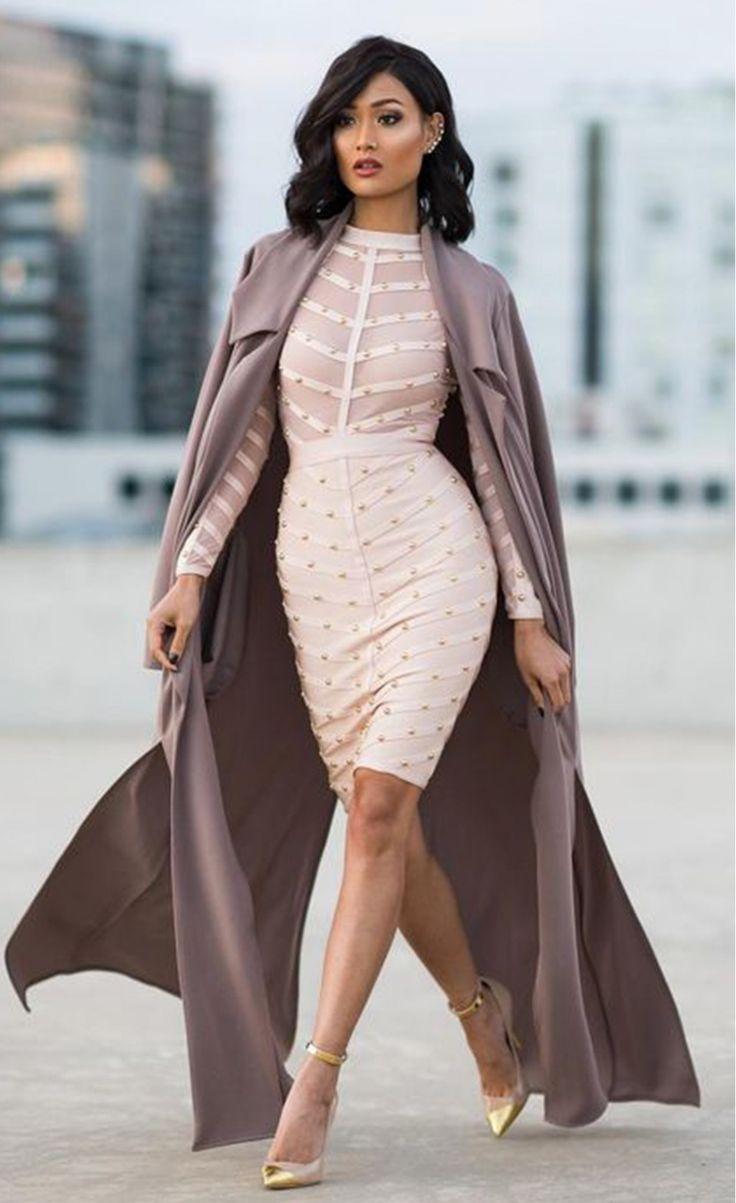 nice Удививительные бандажные платья (50 фото) — Секрет божественной фигуры
