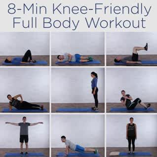 8 Minute Knee Friendly Full Body Workout – Knee is…