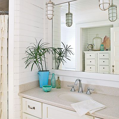 Design Secrets For Coastal Cottages. Hall BathroomLight ... Ideas