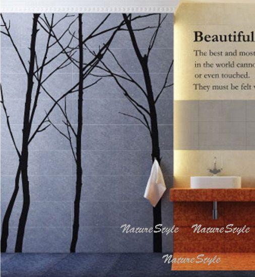Muur sticker boom muur sticker partij winter bomen door NatureStyle
