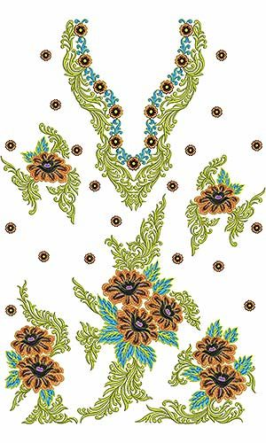 Cheap Embroidery Machine Dress Design