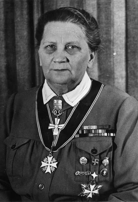 Portrait of Fanni Luukkonen, 1940s