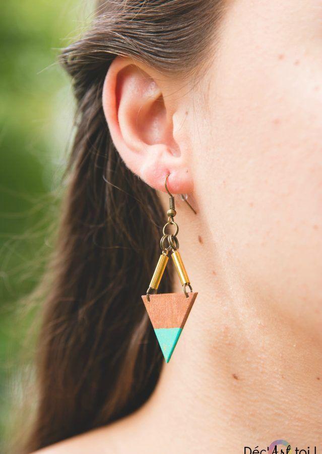 Boucles d'oreilles en bois quebec