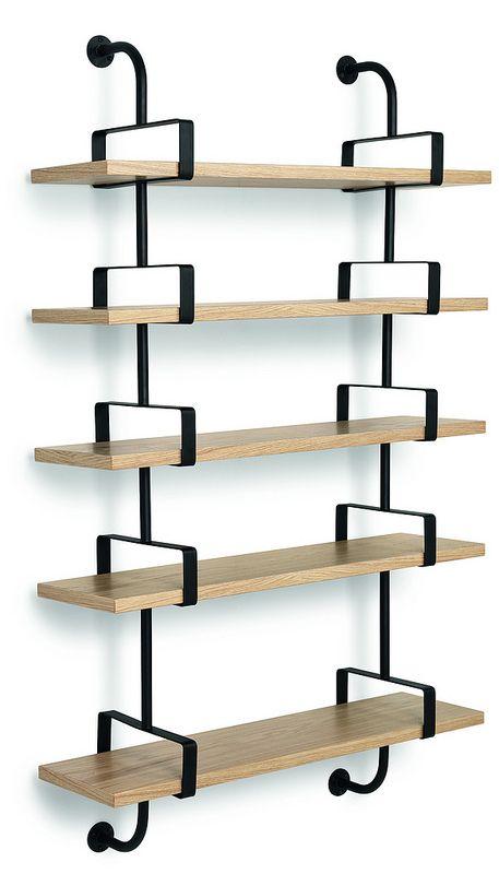GUBI // Demon Shelf 5 shelves, width 95 cm in oak. Designed by Matheiu Matégot